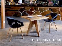 北欧简约餐椅咖啡椅 居家实木椅休闲椅 办公椅接待椅PW-020