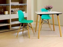 简约现代椅子 咖啡椅餐厅塑料椅 时尚办公椅 伊姆斯休闲餐椅