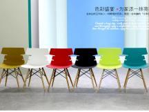 北欧简约时尚餐椅 现代塑料塑木造型椅 家居椅 餐厅椅PW-030