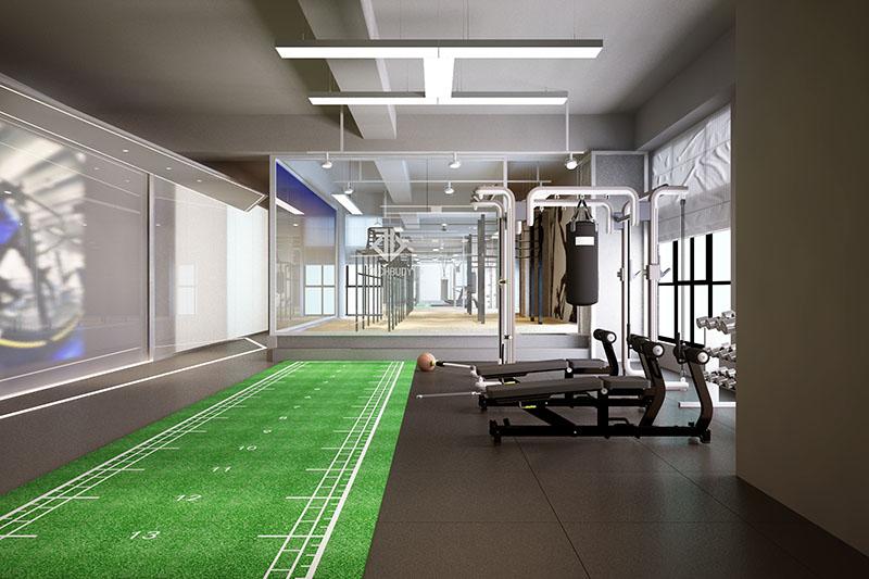 钛克运动健身房装修设计