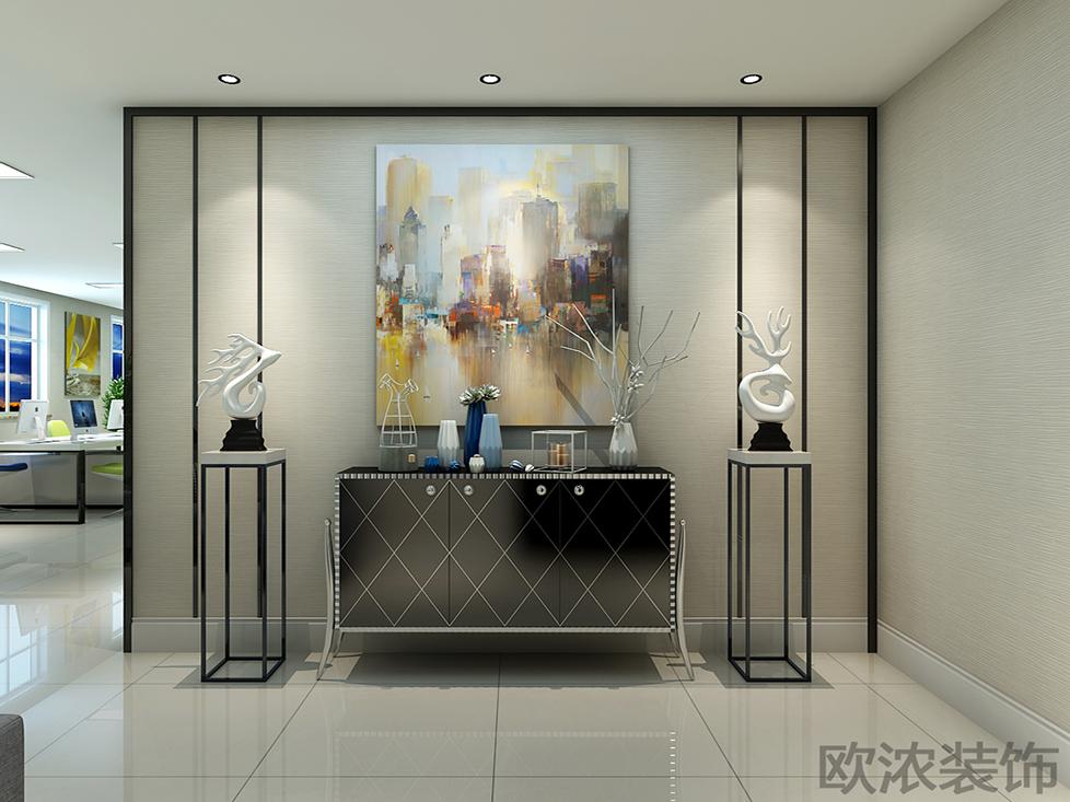 西安欧浓装饰公司 - 办公室玄关装修效果图