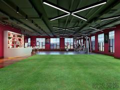 『西安欧浓装饰』启迪国际260平米健身房装修设计方案