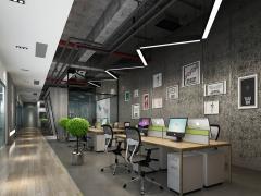 『西安欧浓装饰』首座大厦172平米办公室装修设计方案