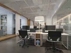 『西安欧浓装饰』创业广场247平米办公室装修设计方案