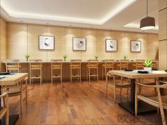 『西安欧浓装饰』通化门76平米餐饮店装修设计方案
